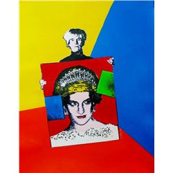PRINCESS DIANA COLORFUL SALE ONLY $100 WARHOL POP STYLE CANVAS