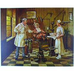 DENTIST'S OFFICE RARE DUBIN ORIGINAL COLLOTYPE LTD ED
