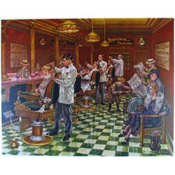 PARLOR OLD TIME BARBER SHOP NOSTALGIA SIGNED LTD ED