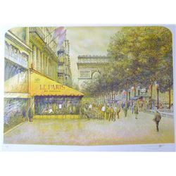 PARIS SCENE ARCHITECTUAL STYLE REALISTIC COLORFUL ART