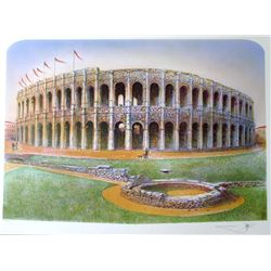 ROME COLLISEUM SIGNED LTD ED LITHOGRAPH DEALER SALE