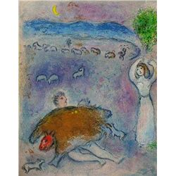 DANCER MARC CHAGALL FANTASTIC ORIGINAL LITHOGRAPH COLORFUL