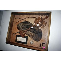 Original Relics of the West Shadowbox George Custer