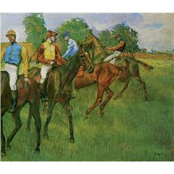 Race Horses - Edgar Degas - Limited Edition on Canvas