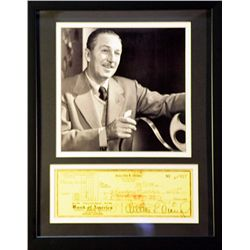 Walt Disney   Giclee with Image of a real check