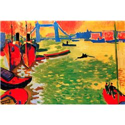 La Tamise Et Tower Bridge - Andre Derain - Limited Edition on Canvas