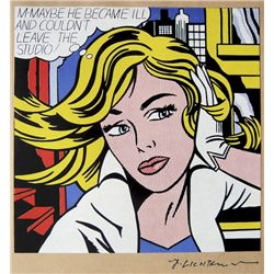 Roy LICHTENSTEIN,  Art of the Sixties  signed Special Print 1969
