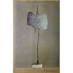 Lucio FONTANA,  Art of the Sixties  signed Special Print 1969