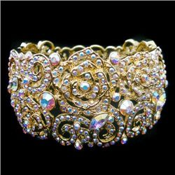 Swarovski Crystal Rose Bangle Bracelet  mwf2139