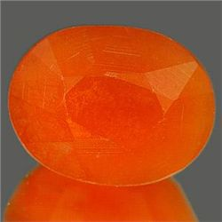 1.00 Ct. Splendid Oval Natural Orange Color OpalUnheate