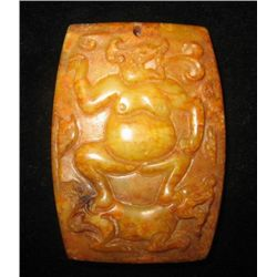 MWF1686 Amazing Jade Pendant of Qilin in the dragon fi