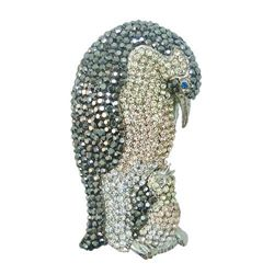 Amazing Swarovski Crystal Emperor Penguin Brooch Pin