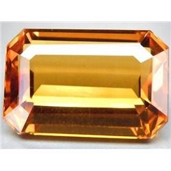 ABSOLUTELY STUNNING 12.40 CT GOLDEN ORANGE CITRINE