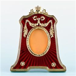 Red Guilloche Enamel Faberge Frame