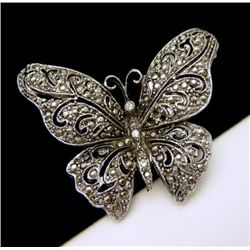 Vintage Ornate Butterfly Brooch