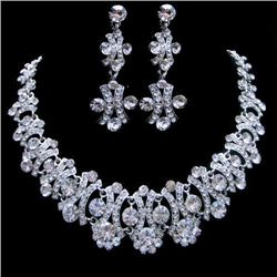 Swarovski Crystal Choker Necklace and Earring Necklace