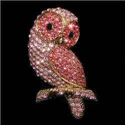Wonderful Swarovski Crystal Owl Brooch / Pendant mwf213