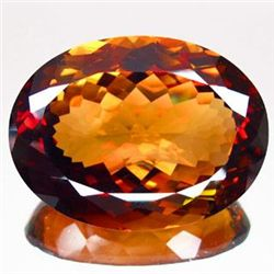 COLOSSAL 172.85ct UNHEATED Oval Facet IMPERIAL TOPAZ