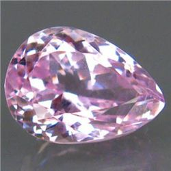 SPARKLING 10.63ct. AAA SWEET PEAR PINK KUNZITE UNHEATED
