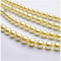 MWF1115 - 48in 5 -6.5mm AAA+ Akoya Cream Pearls Rope Ne
