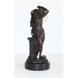 Alluring Bronze Sculpture Single Standing Goddess