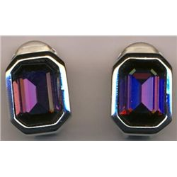 ELEGANT CHRISTIAN DIOR AMETHYST CLIP EARRINGS MWF1799