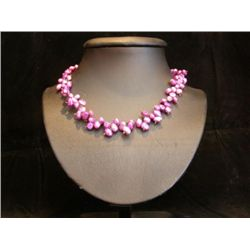 DAZZLING Amethyst Hued Freshwater Pearl Necklace MWF11