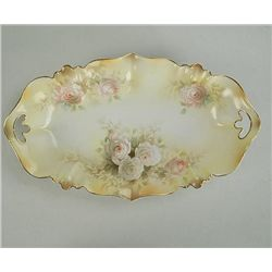 R.S. Prussia Oval Handled Tray