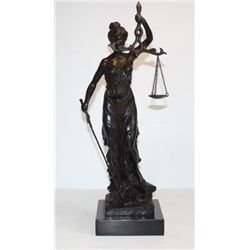 Noble Bronze Sculpture Lady Justice