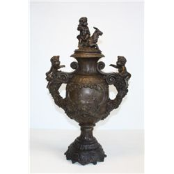 Beautiful Bronze Sculpture Ornate Memorial Urn