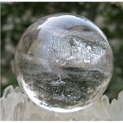 NATURAL TRANSPARENT Quartz Crystal sphere ball MWF989