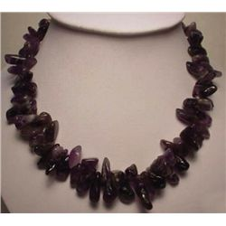 High-End Very Fine Amethyst Nugget Necklace MWF1732