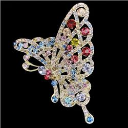Attractive Swarovski Crystal Butterfly Brooch Pin