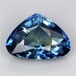 STUNNING UNHEATED 0.62ct PEAR NATURAL GREENISH BLUE SAP