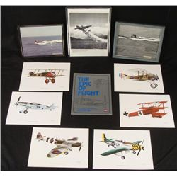 1952 WWII & KOREA FRAMED PHOTOS AND FLIGHT BOOK