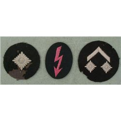 3 NAZI ORIGINAL LUFTWAFFE RANK PATCHES-1 MARKED ON REAR
