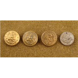 4 Civil War Naval Navy Original Large Gilt Buttons