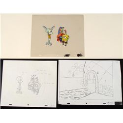 Animation Homecoming Original Art Spongebob Cel Drawing