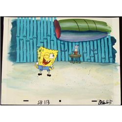 Original SpongeBob Animation Cel & Background Wink!
