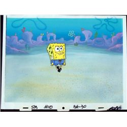 SpongeBob Orig Production Cel & Background Strolling