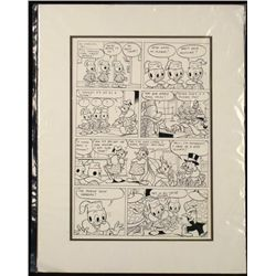 Donald Duck Comic Strip Original Production Drawing