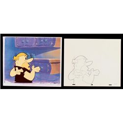 Original Drawing Flintstones Animation Barney Lying Cel