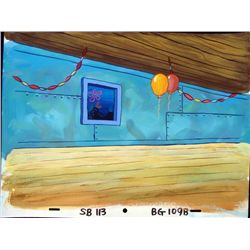Spongebob Original Production Background Party Balloons