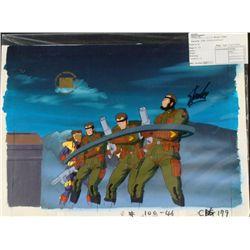 X-MEN Background Original Signed Cel Animation Stan Lee