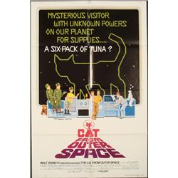 Cat From Outer Space Original Disney Movie Poster 1978