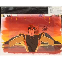 Original Animation Cel Stan Lee Background Singed X-Men