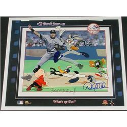 Derek Jeter + McKimson Signed LE Cel WHAT'S UP DOC?
