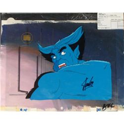X-MEN Animation Original Background Signed Cel Stan Lee