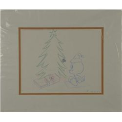Tweety Original Animation Production Drawing Christmas