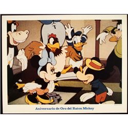 Mickey Mouse Golden Anniversary Lobby Card Disney